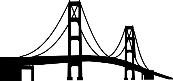 Bridge clipart outline And bridge Mackinac file Svg