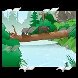 Bridge clipart river Bridge River River—in two forest