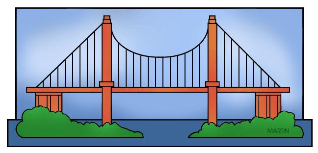 Bridge clipart ditch Art Bridge Bridge Suspension Suspension
