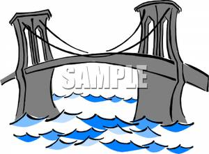Bridge clipart water clipart Choppy Over A Stone Water