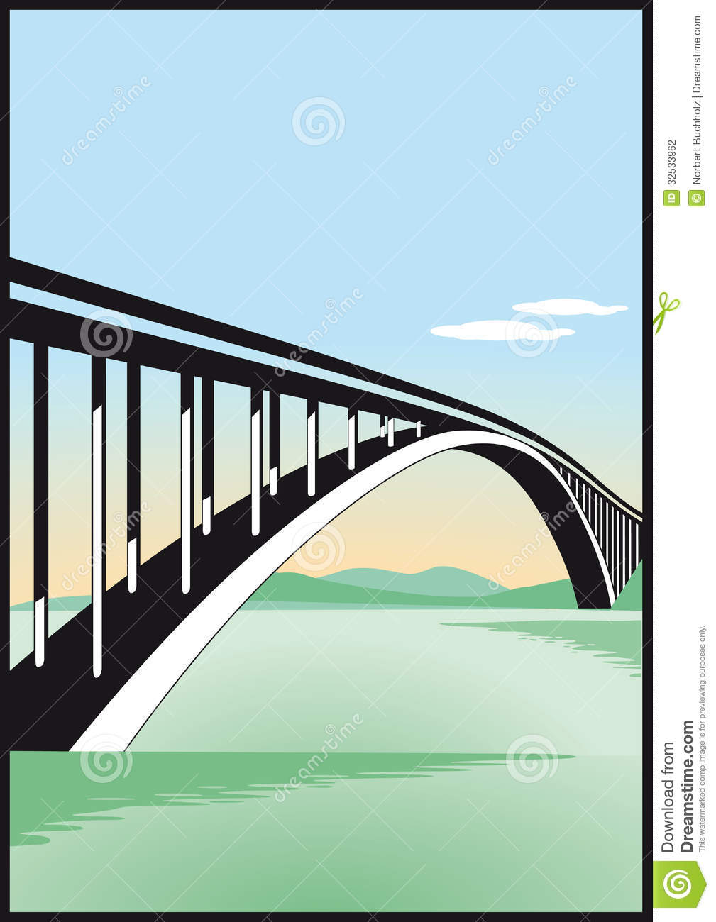 Bridge clipart water clipart – Clip Blue Water Blue