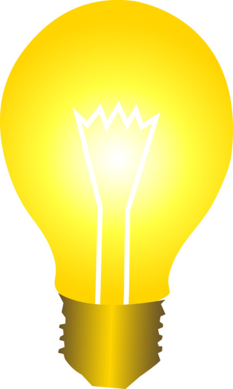 Bright clipart Bulb Idea collection Bulb Yellow