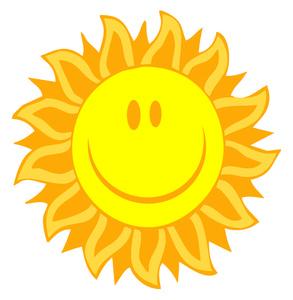 Bright clipart Happy clip sun bright Image: