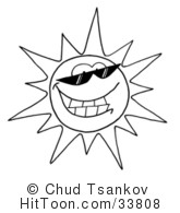 Bright clipart black and white #33813 Cool Bright of Character