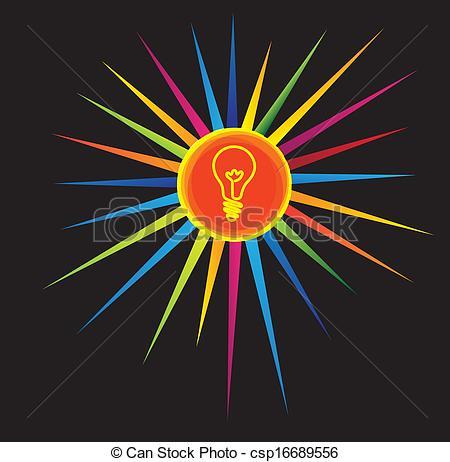 Bright clipart brilliant idea Bright concept Art light a