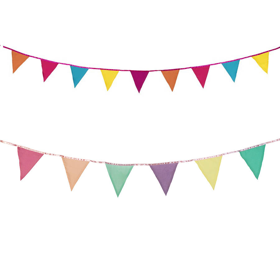 Bunting clipart bright By fabric Bunting bunting notonthehighstreet