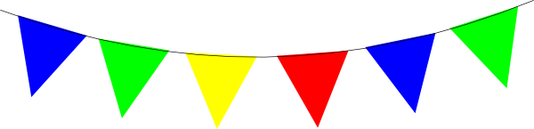 Bunting clipart bright Bright  Rainbow vector image