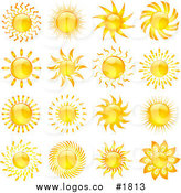 Bright clipart hot summer sun Logos Collage Sun of Bright
