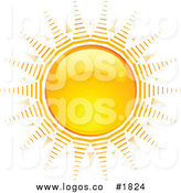 Bright clipart hot summer sun KJ Bright Logo Orange Hot