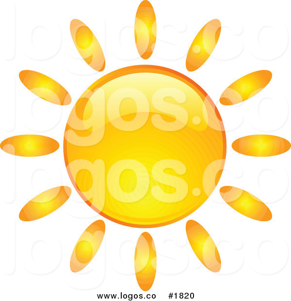 Bright clipart hot summer sun Royalty Bright Element Orange Hot