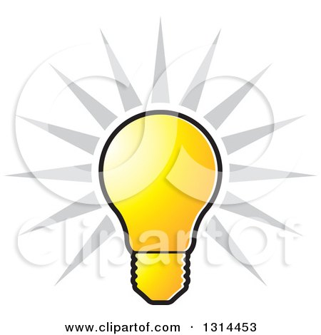 Bulb clipart lightning Clipart bulb 49433 Bright collection