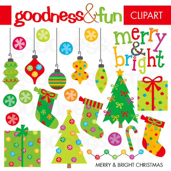 Bright clipart merry & Clipart Digital Buy