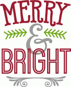 Bright clipart merry Silhouette Kolette merry phrase Holiday