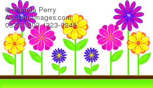 Bright clipart spring flower Flowers in Art Bright Bright