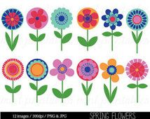 Bright clipart spring flower Flower Clip Clipart Art Bright