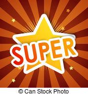Bright clipart supe star 286 Super star vector Super