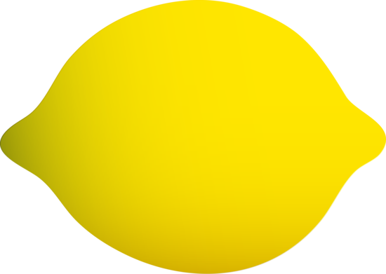 Bright clipart yellow object Lemon Clip Yellow Whole Clip