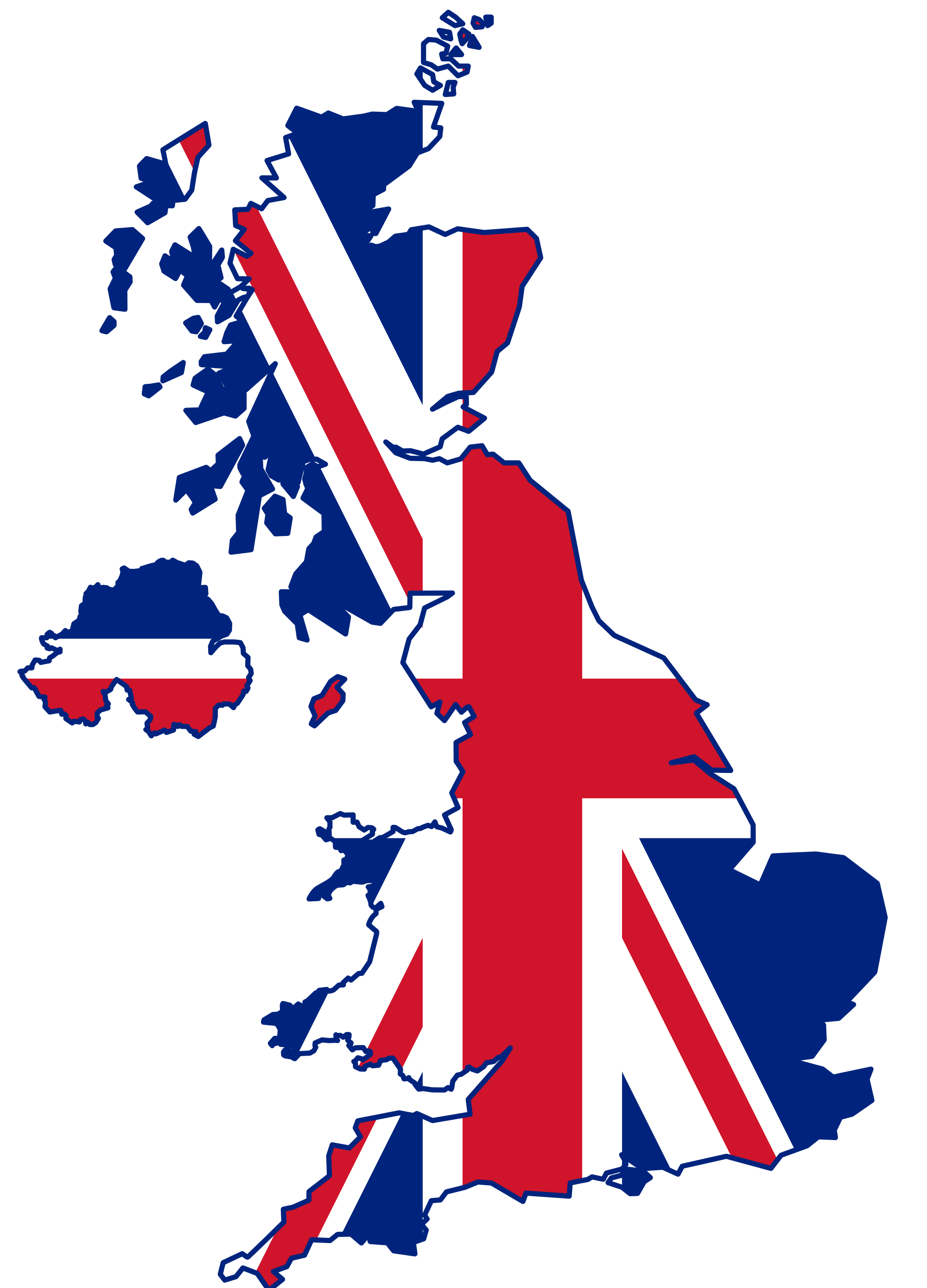 British Flag clipart england map  American The War the