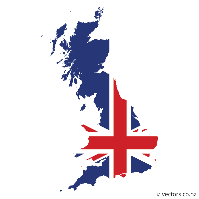 British Flag clipart england map UK Flag Vector of Great