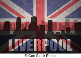 British Flag clipart england map  at liverpool vintage flag