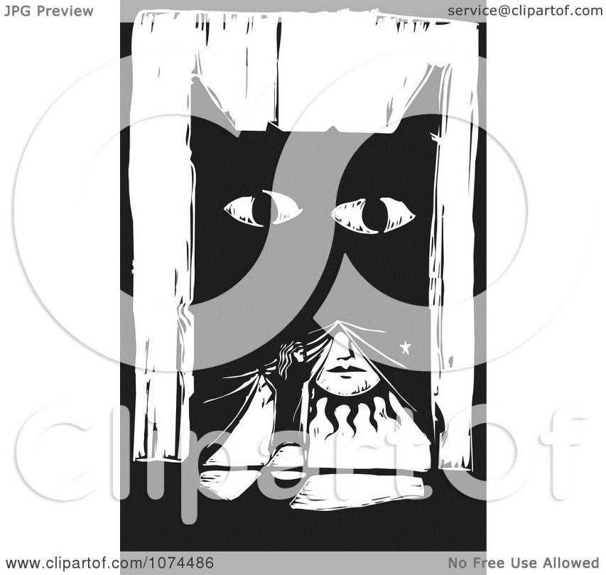 Drawn curtain broadway #14