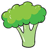 Broccoli clipart cauliflower Watercolor Broccoli on Royalty painting