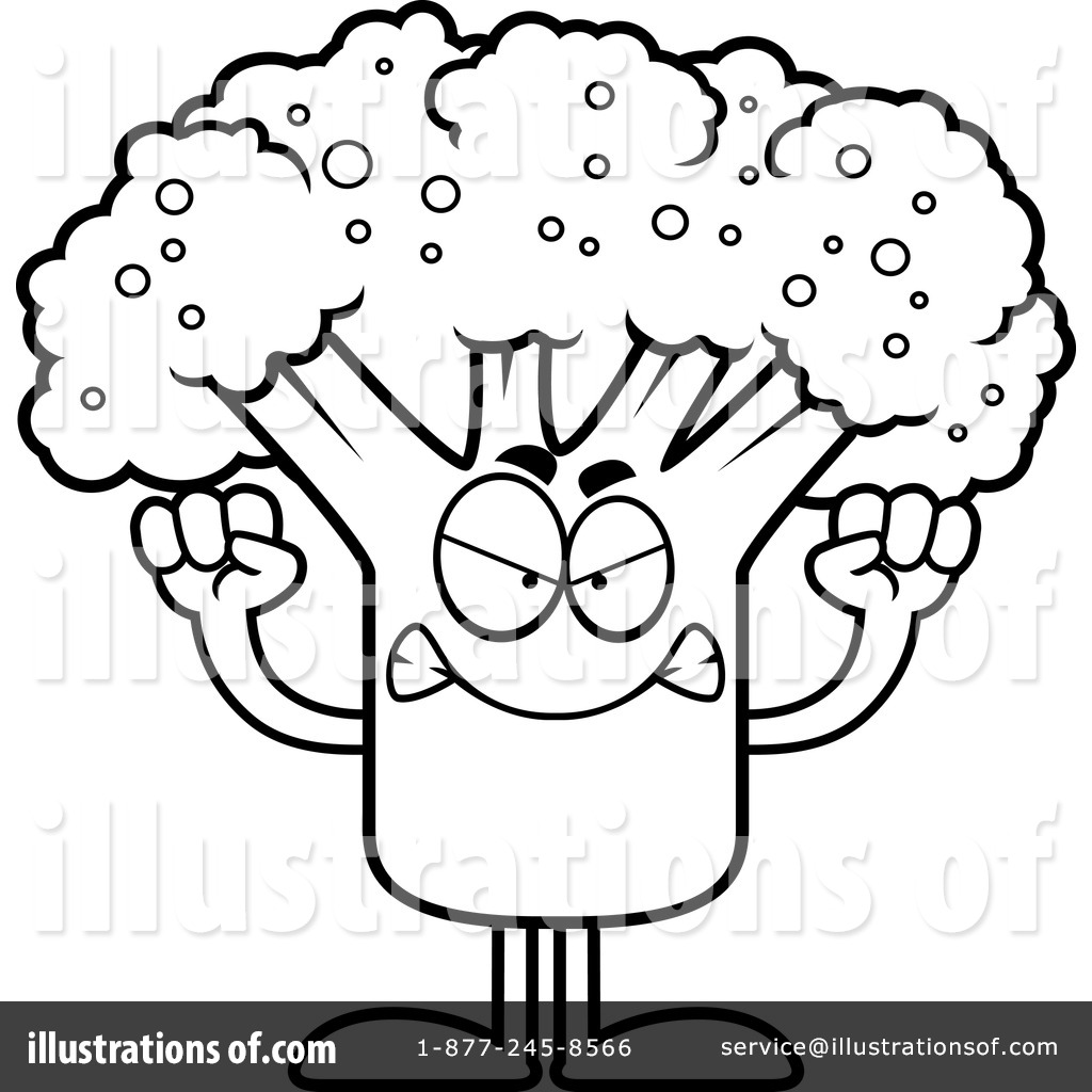 Broccoli clipart angry Royalty Illustration by Clipart Broccoli