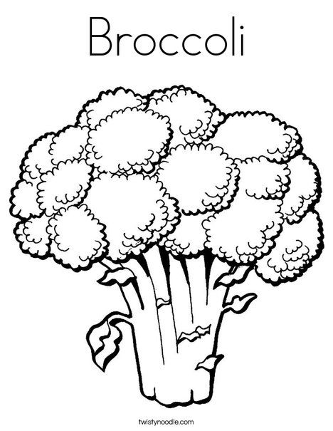 Broccoli clipart fruit and vegetable From TwistyNoodle on Pinterest Coloring