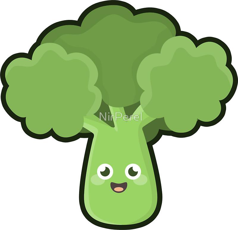Broccoli clipart kawaii Broccoli NirPerel by by Redbubble
