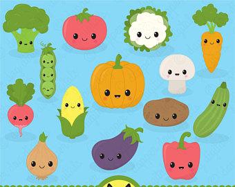 Broccoli clipart kawaii Clipart Vegetables Images Food Vector