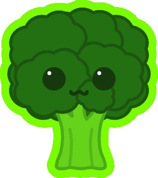 Broccoli clipart kawaii Broccoli by (Kawaii) (Kawaii) on