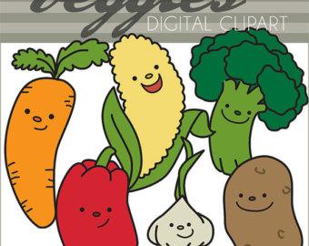Broccoli clipart kawaii Clipart Clipart Carrot Set Use