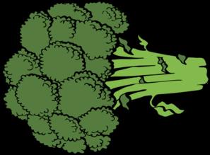 Broccoli clipart vector Vector royalty Clip Broccoli art