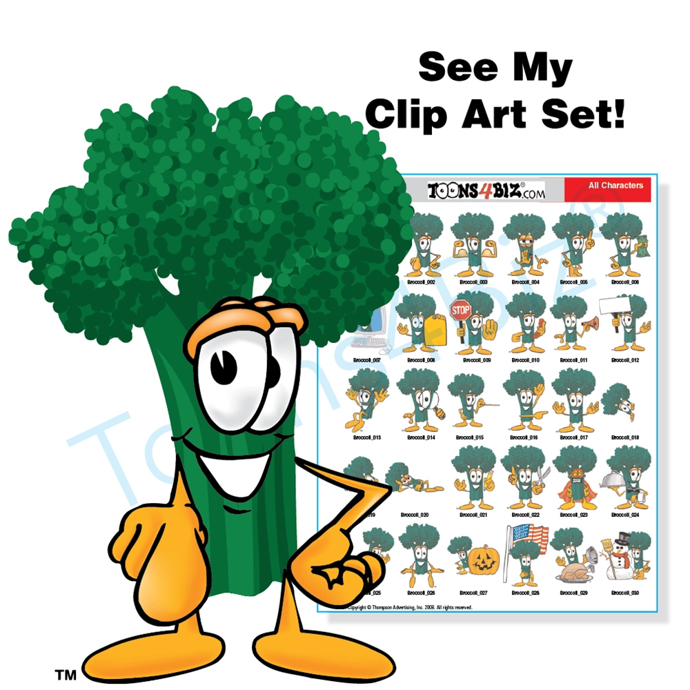 Broccoli clipart veggie Broccoli Set Set Art Broccoli