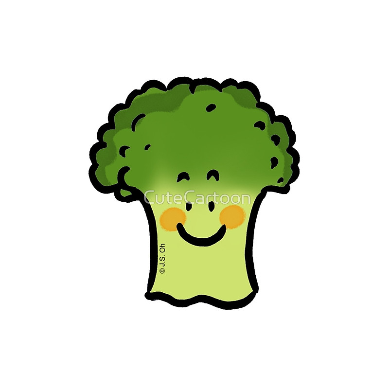 Broccoli clipart veggie Cute Redbubble cartoon Throw broccoli