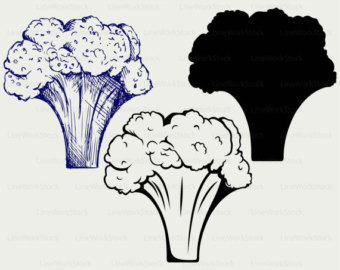 Broccoli clipart veggie Etsy svg clipart vegetables cricut