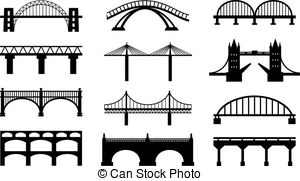 Drawn bridge train bridge Black of Illustrations icons Free