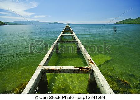 Broken Bridge clipart dock The Search bridge sea the