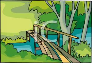 Broken Bridge clipart footbridge A Wooden Free Bridge Royalty
