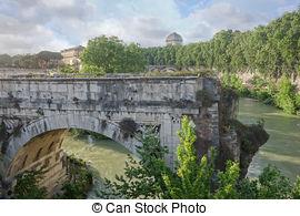 Broken Bridge clipart small Italy Rome  Rome Stock