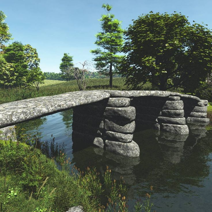 Broken Bridge clipart stone bridge Business on Medeival Bridge 14