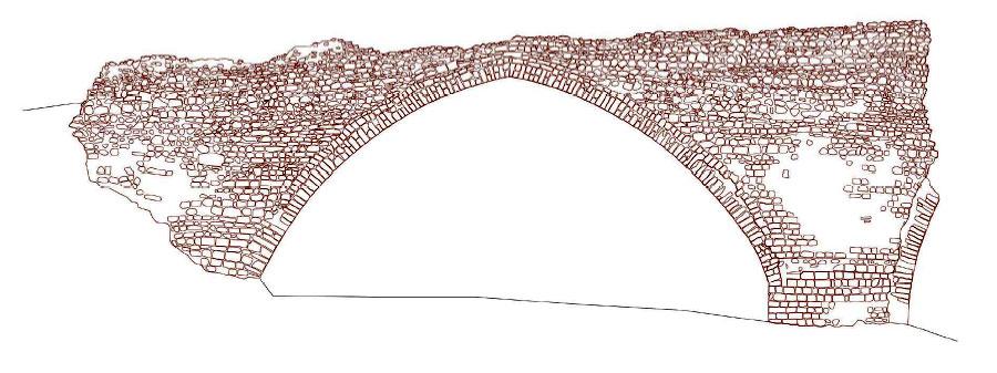 Broken Bridge clipart stone bridge Elevation of weathering Trencat: Elevation