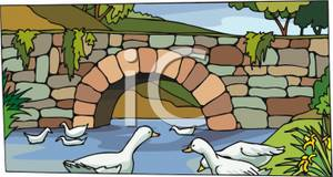 Broken Bridge clipart stone bridge Old Clipart Bridge Stone Royalty