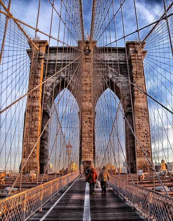 Broken Bridge clipart tulay Brooklyn Sky Historic photo
