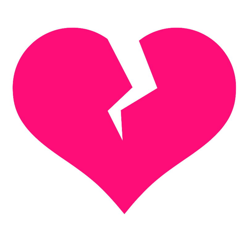Broken Heart clipart Image art #33711 Broken heart