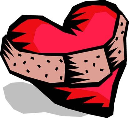 Broken Heart clipart bandaid clipart Broken with clipart heart heart