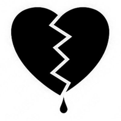 Broken Heart clipart small And Archives Info Black Clipart