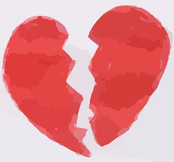 Broken Heart clipart small · Clker vector  Clip