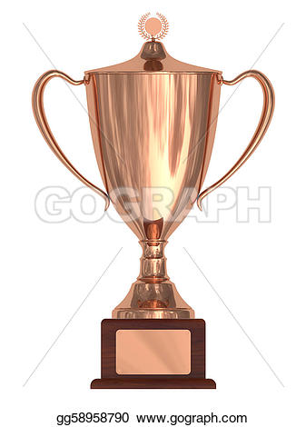 Bronze clipart With blank on pedestal cup