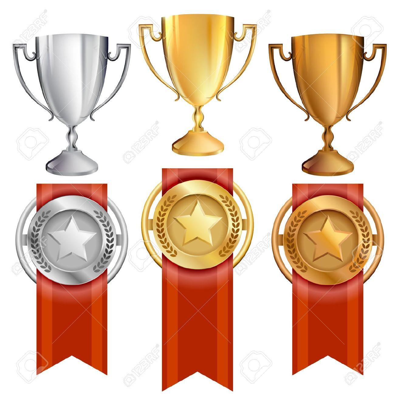Trophy clipart achievement Trophy cliparts Gold Bronze Medal